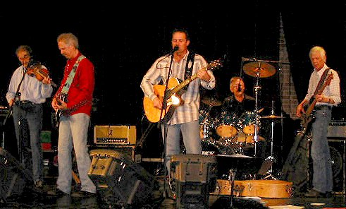 The John Arnold Band onstage at Will Rogers Theatre, 2005